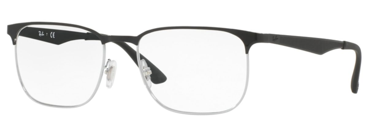 Ray-Ban RX6363 2861 Top Silver on Black