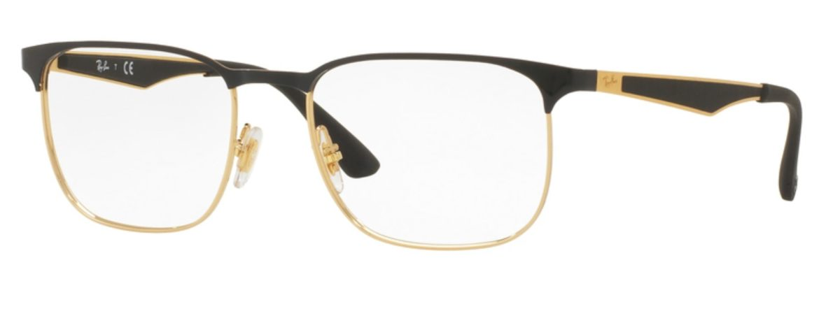 Ray-Ban RX6363 Top Gold on Black