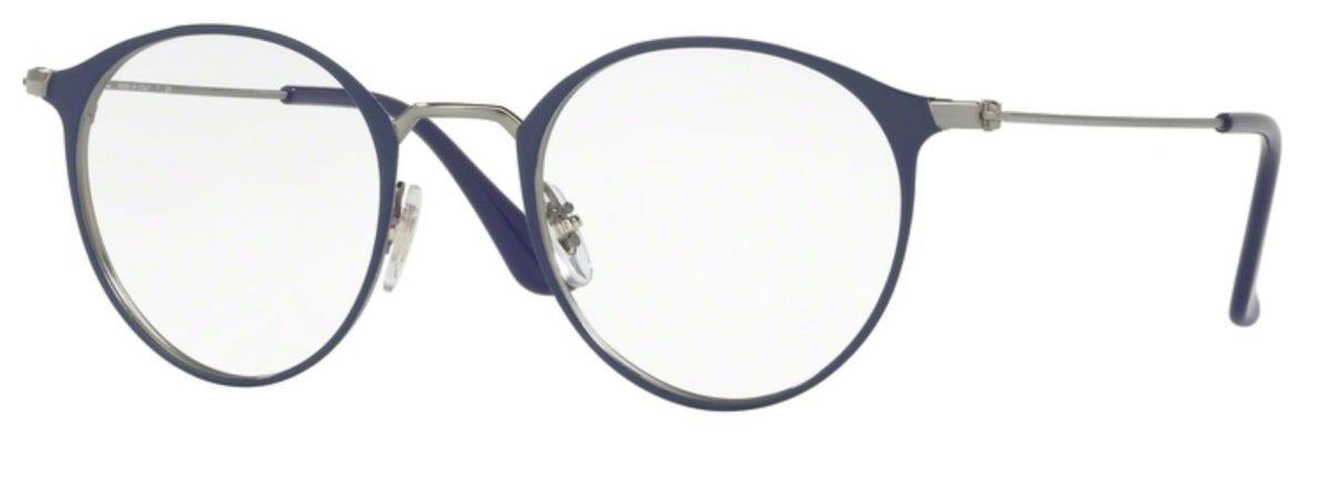Ray-Ban RX6378 - 2906 Gunmetal / Shiny Blue