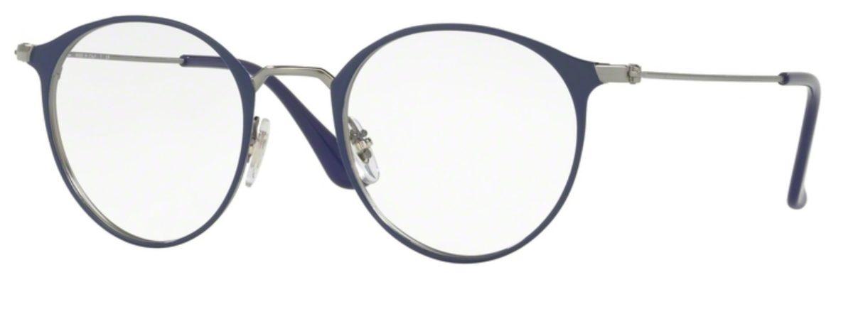 Ray-Ban RX6378F - 2906 Gunmetal / Shiny Blue