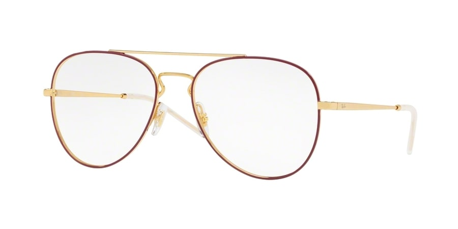 Ray-Ban RX6413 2983 - Gold Top Bordeaux