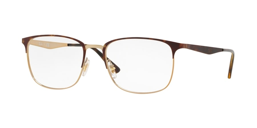 Ray-Ban RX6421 3001 - Pink Gold on Top Havana