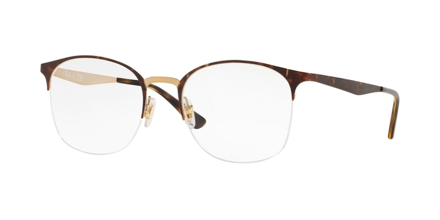 Ray-Ban RX6422 3001 - Pink Gold Top on Havana