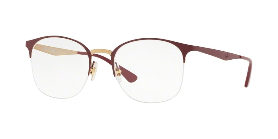 Ray-Ban RX6422 3007 - Pink Gold on Top Matte Bordeaux