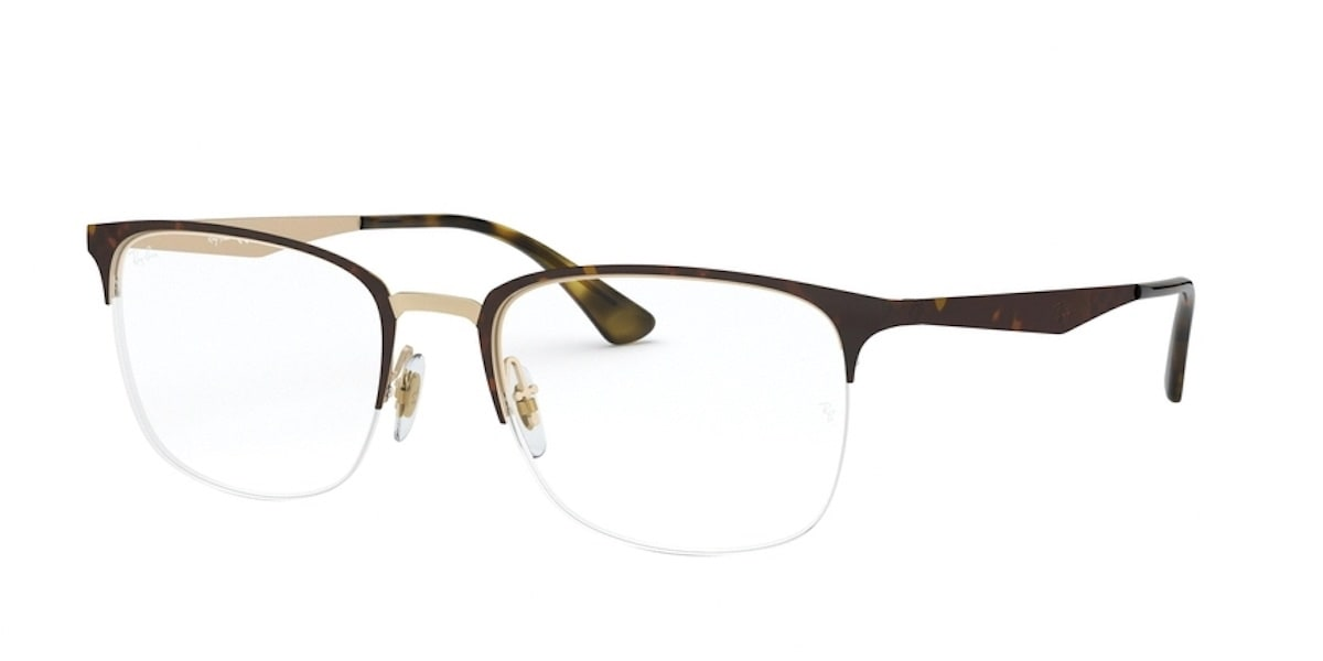 Ray-Ban RX6433 3001 - Top matte Havana on Pink Gold