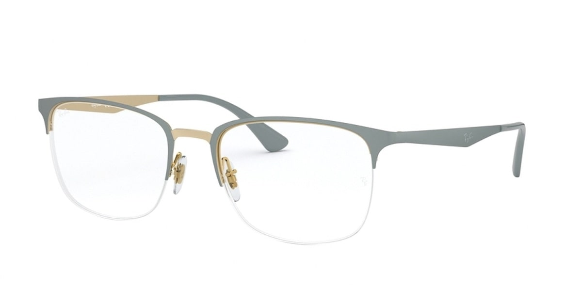 Ray-Ban RX6433 3039 - Top Matte Grey on Gold