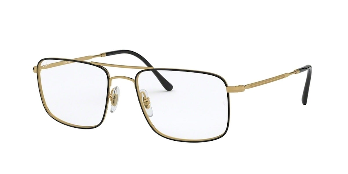 Ray-Ban RX6434 2946 - Top Black on Gold