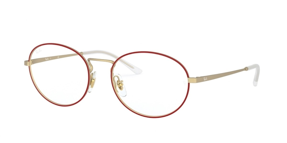 Ray-Ban RX6439 3052 - Matte Red on Rubber Gold