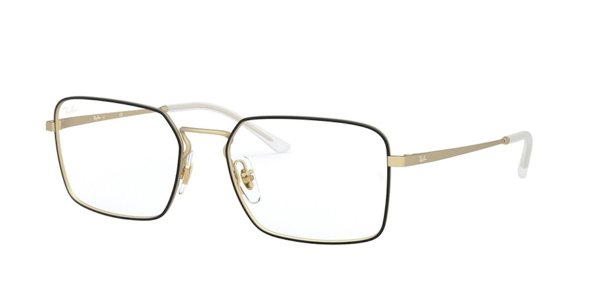 Ray-Ban RX6440 3051 - Matte Black on Rubber Gold