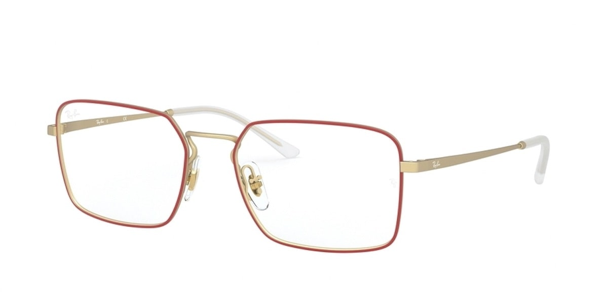 Ray-Ban RX6440 3052 - Matte Red on Rubber Gold