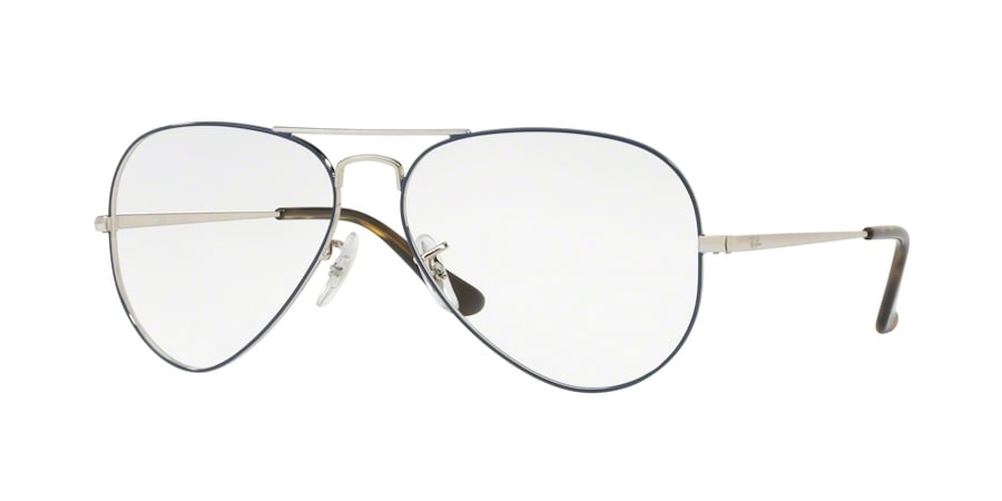 Ray-Ban RX6489 2970 - Silver on Top Blue