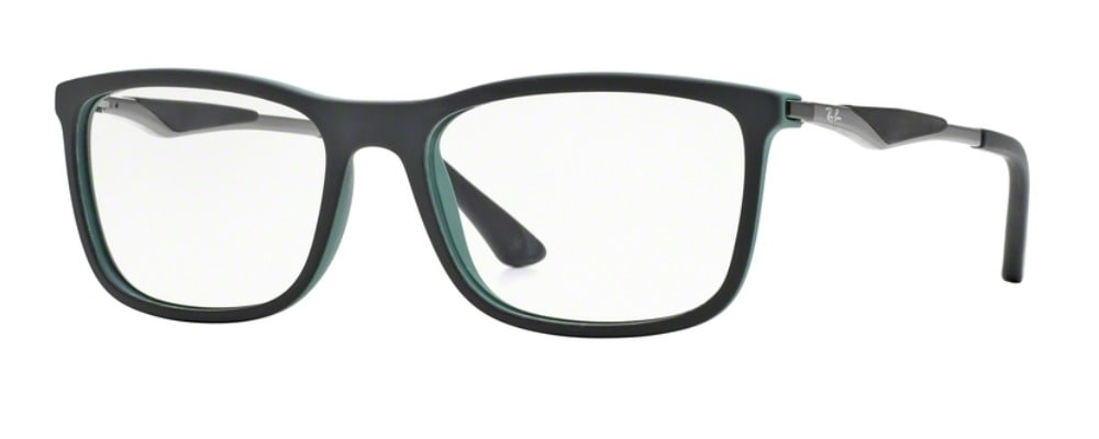 Ray-Ban RX7029 - 5197 Top Black on Green