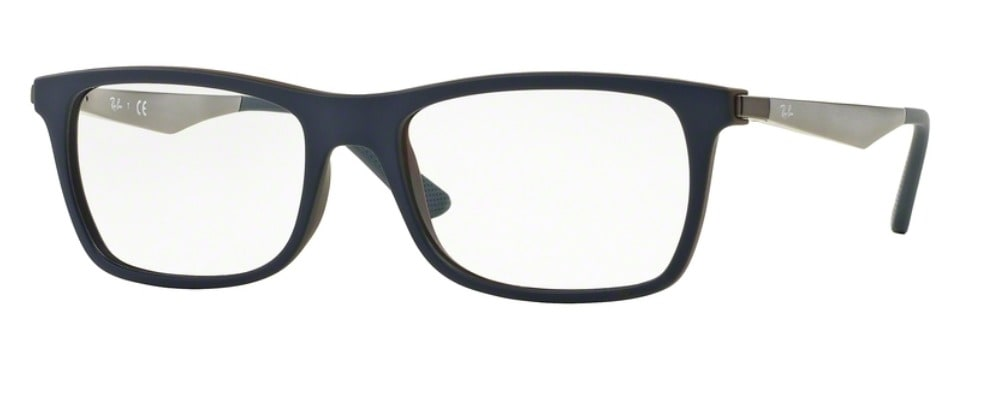 Ray-Ban RX7062 - 5575 Top Blue on Matte Brown