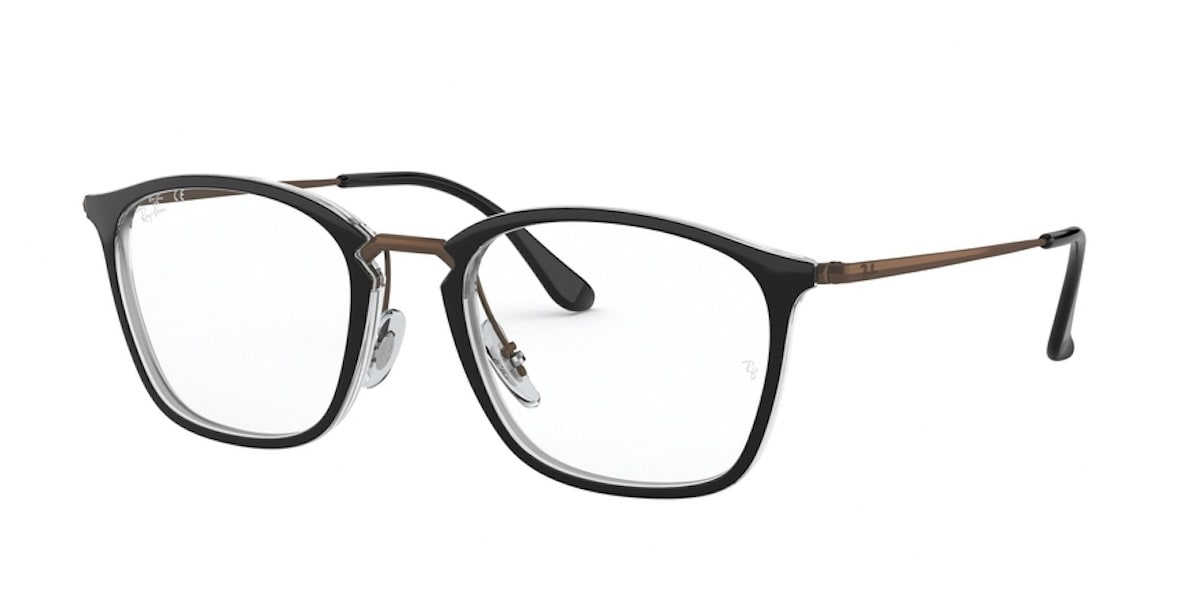 Ray-Ban RX7164 5882 - Top Black on Transparent