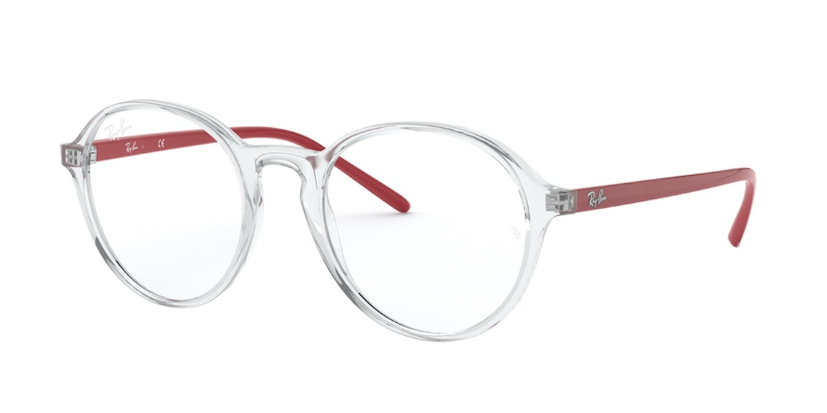Ray-Ban RX7173F 5963 - Transparent Red