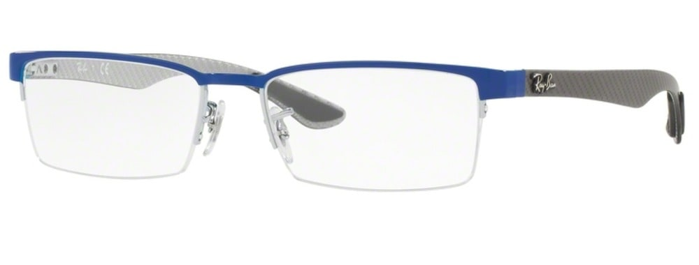 Ray-Ban RX8412 - 2891 Grey Top on Blue