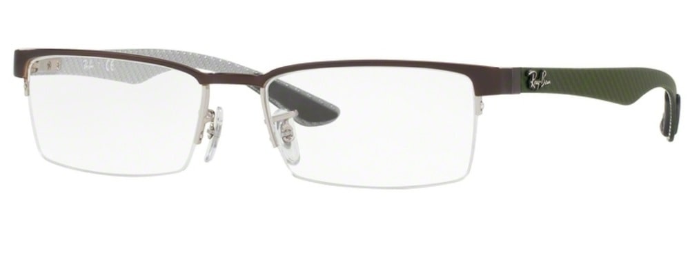 Ray-Ban RX8412 - 2893 Silver Top on Brown