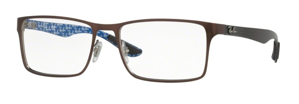 Ray-Ban RX8415 2862 Top Brushed Brown on Gunmetal