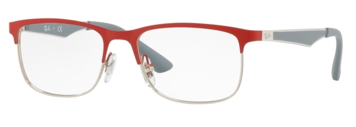 Ray-Ban RY1052 - 4059 Silver Matte Red