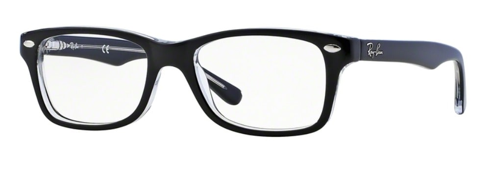 Ray-Ban RY1531 - 3529 Top Black on Transparent
