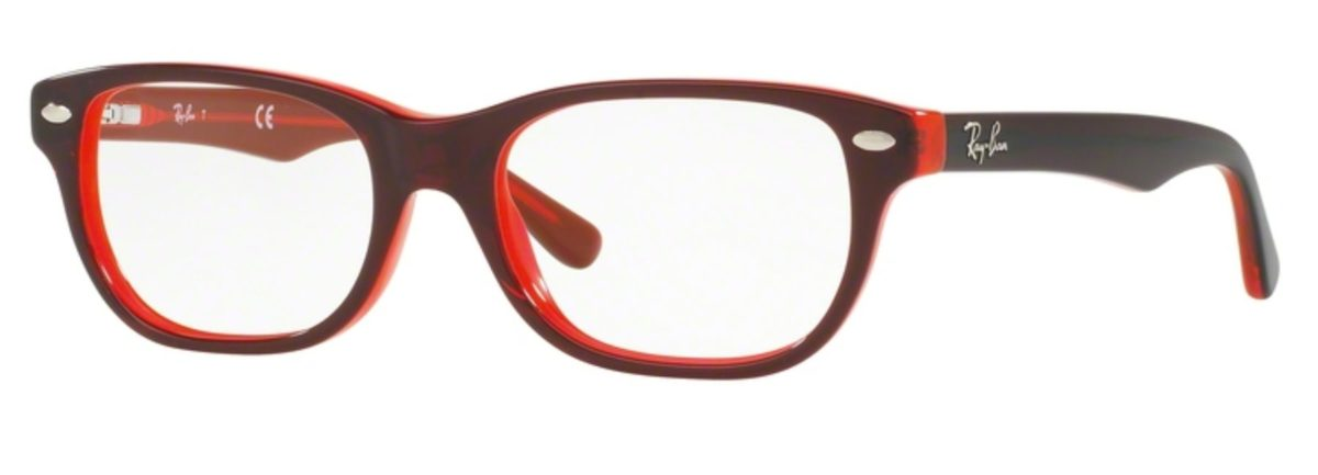 Ray-Ban RY1555 - 3664 Top Red on Red