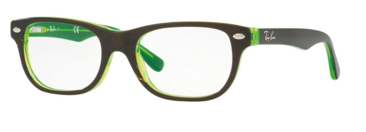Ray-Ban RY1555 - 3665 Top Brown on Green