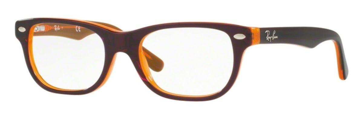 Ray-Ban RY1555 - 3674 Top Brown on Orange