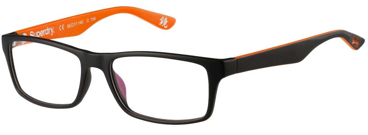 Superdry Keijo - 104 Matte Black / Orange