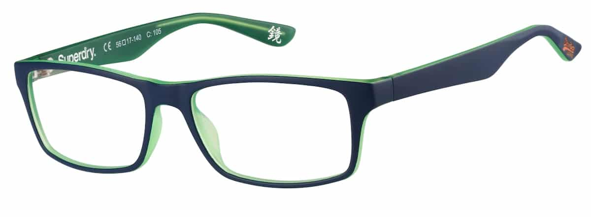 Superdry Keijo - 015 Matte Blue / Green