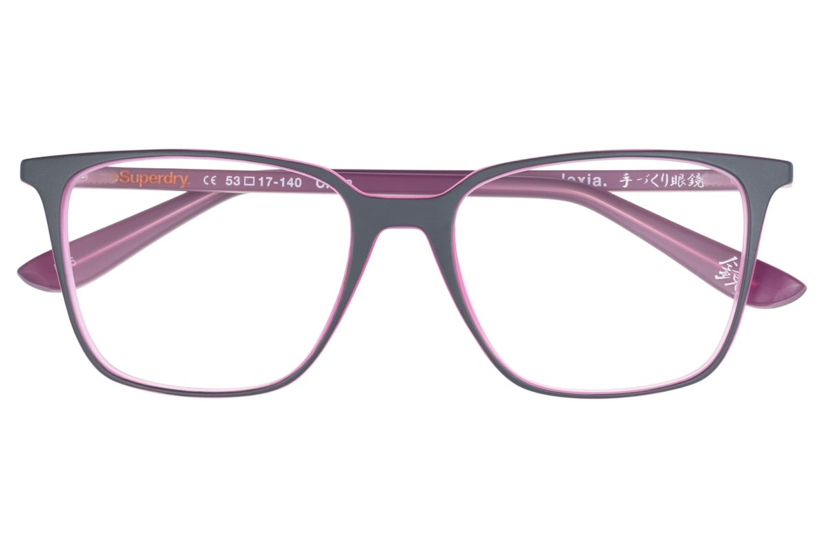 Superdry Lexia 108 - Matte Grey / Pink - Front