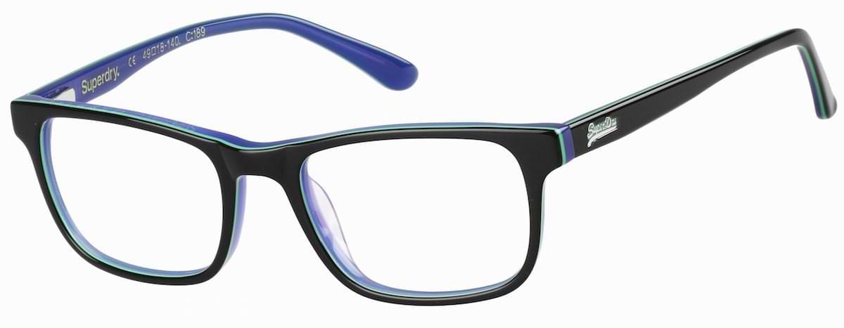 Superdry Riku - 189 Gloss Black / Green / Blue