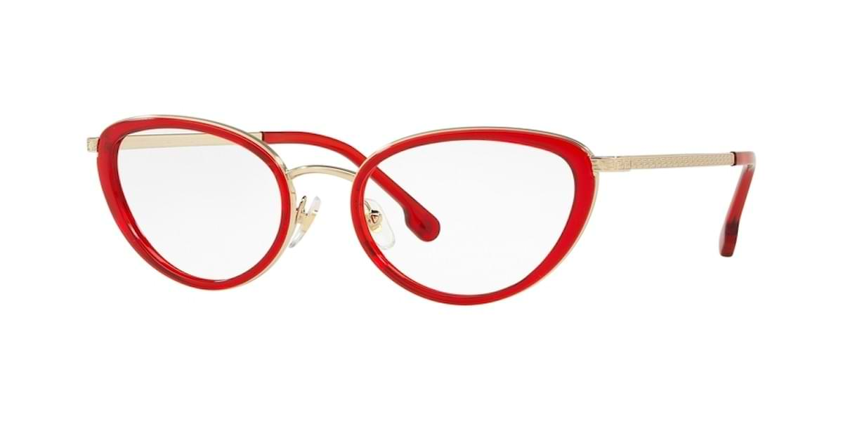 Versace VE1258 1439 - Transparent Red / Pale Gold