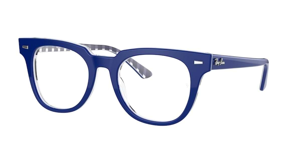 Ray-Ban RX5377 8090 Blue on Vichy / White