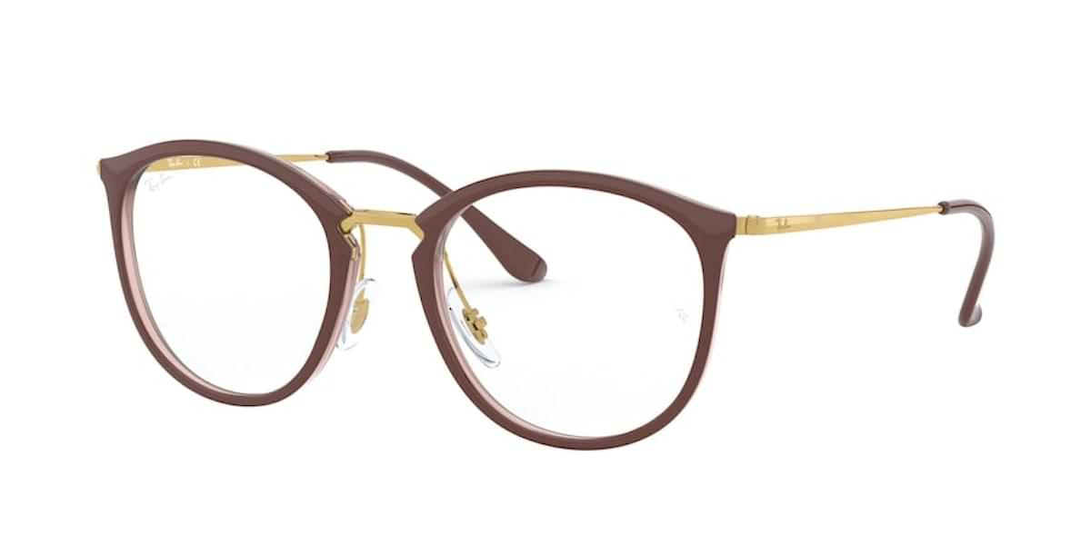 Ray-Ban RX7140 5971 Brown on Transparent Brown