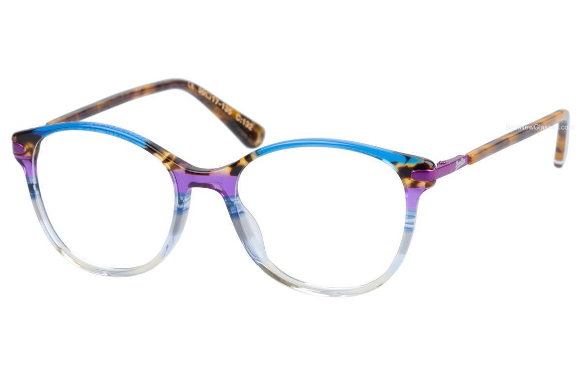 Superdry Adalina 132 Blue / Leopard / Purple