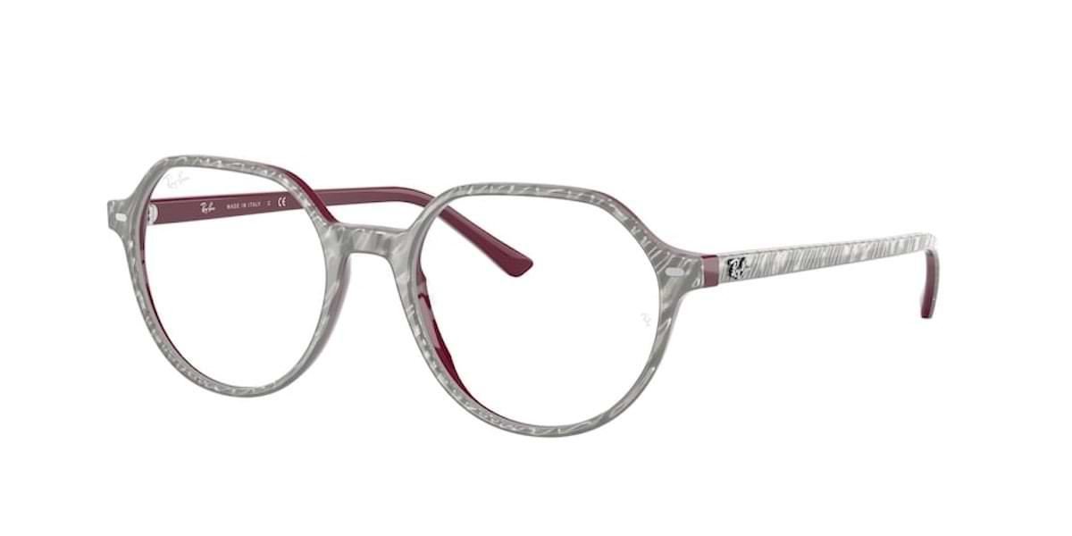 Ray-Ban RX5395 8050 Wrinkles Grey On Bordeaux