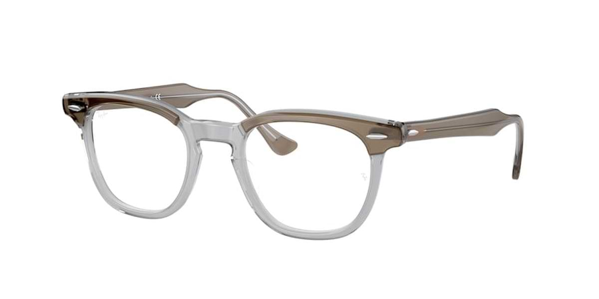 Ray-Ban RX5398 8112 Brown on Transparent Grey