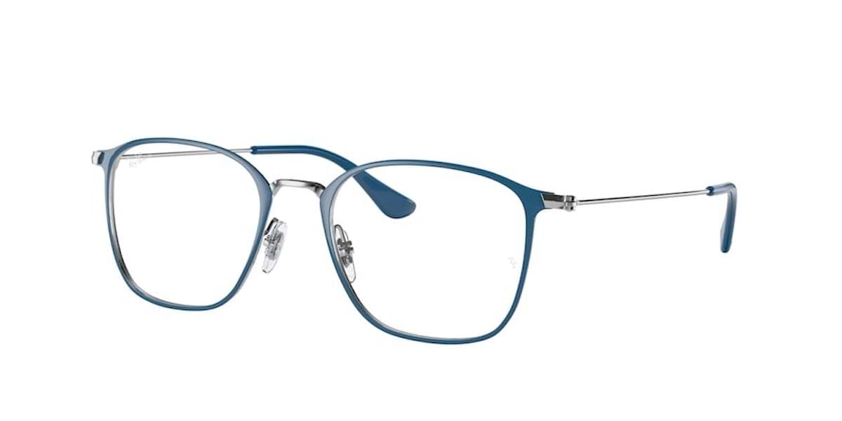 Ray-Ban RX6466 3101 Blue on Silver